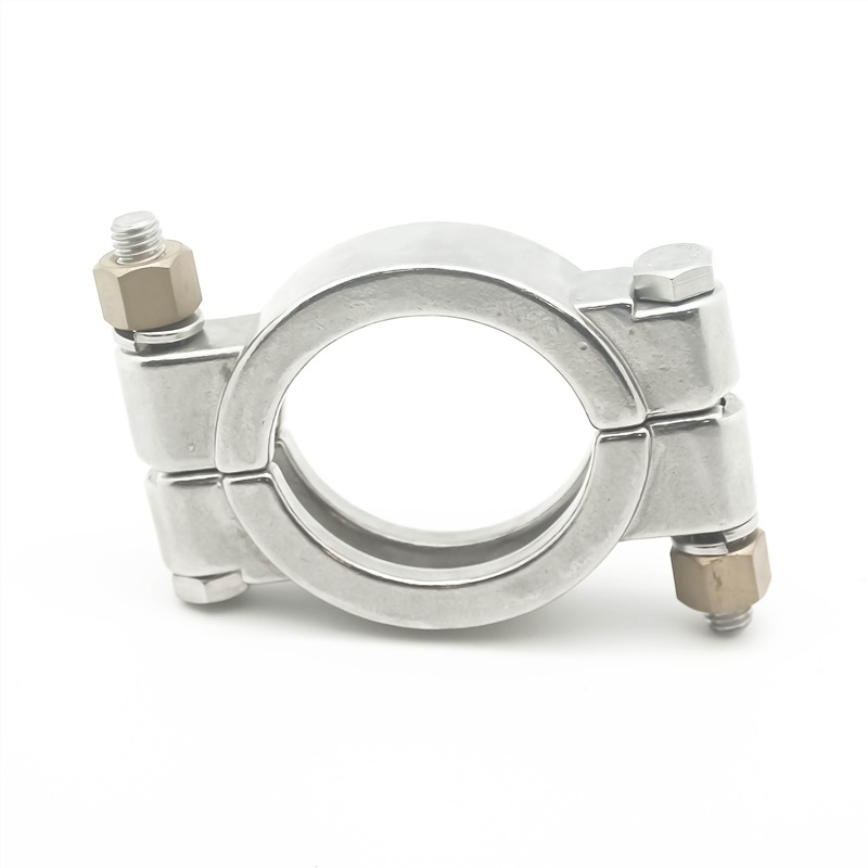 Stainless Steel 304 Single Pin Heavy Duty Tri Clamp with Wing Nut